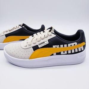 Puma California Logo Brown Yellow Sneaker